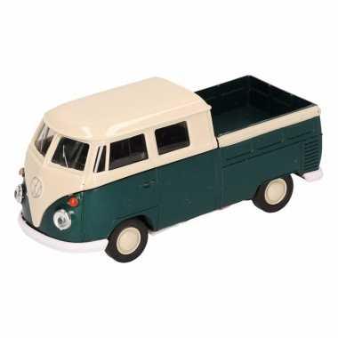 Groothandel speelgoed volkswagen t1 pick up busje groen welly autootj
