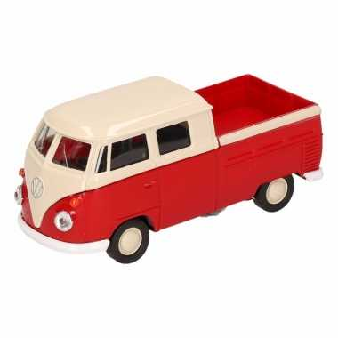 Groothandel speelgoed volkswagen t1 pick up busje rood welly autootje