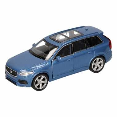 Groothandel speelgoed volvo 2015 xc 90 blauw welly autootje 16 cm kop