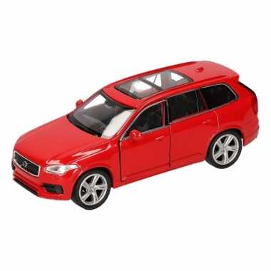 Groothandel speelgoed volvo 2015 xc 90 rood welly autootje 16 cm kope