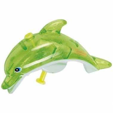 Groothandel speelgoed waterpistolen groene dolfijn 13 cm kopen