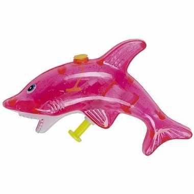Groothandel speelgoed waterpistolen roze haai 13 cm kopen