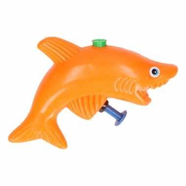 Groothandel speelgoed waterpistool haai oranje 9 cm kopen