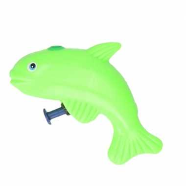 Groothandel speelgoed waterpistool vis groen 9 cm kopen