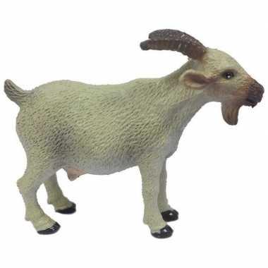 Groothandel speelgoed witte geit kunststof 6 cm kopen