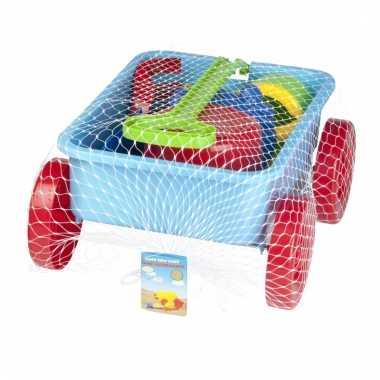 Groothandel speelgoed zand trekkar blauw 7 delig kopen