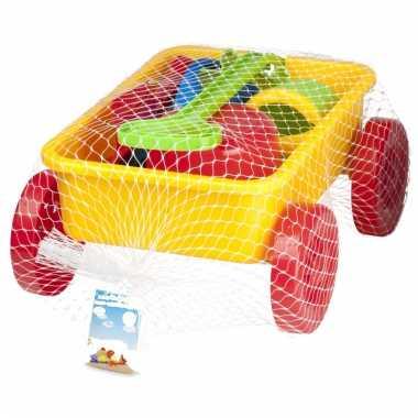 Groothandel speelgoed zand trekkar geel 7 delig kopen