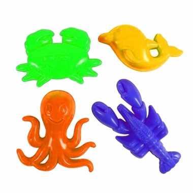 Groothandel speelgoed zandfiguurtjes oceaan thema 4 stuks kopen