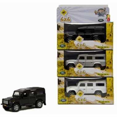 Groothandel speelgoed zilveren landrover 20 cm kopen
