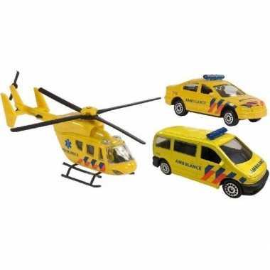 Groothandel speelgoedauto ambulance set 3-delig kopen