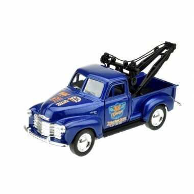 Groothandel speelgoedauto chevrolet 1953 stepside takelwagen blauw 1: