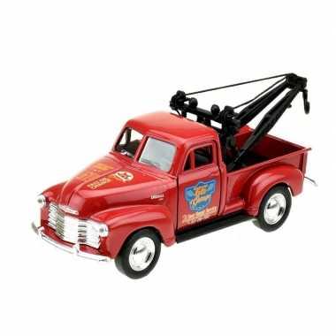 Groothandel speelgoedauto chevrolet 1953 stepside takelwagen rood 1:3