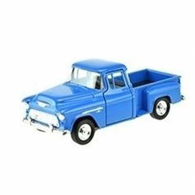 Groothandel speelgoedauto chevrolet 1955 stepside blauw 1:34 kopen