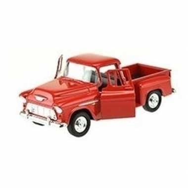 Groothandel speelgoedauto chevrolet 1955 stepside rood 1:34 kopen