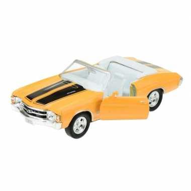 Groothandel speelgoedauto chevrolet 1971 chevelle geel 1:34 kopen