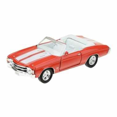 Groothandel speelgoedauto chevrolet 1971 chevelle rood 1:34 kopen