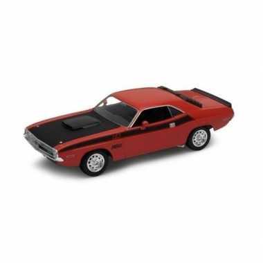 Groothandel speelgoedauto dodge challenger 1970 rood 1:34 kopen