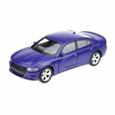 Groothandel speelgoedauto dodge charger 2016 blauw 1:34 kopen