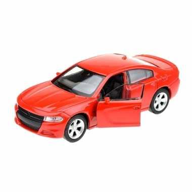 Groothandel speelgoedauto dodge charger 2016 rood 1:34 kopen
