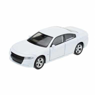 Groothandel speelgoedauto dodge charger 2016 wit 1:34 kopen