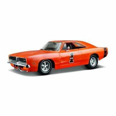 Groothandel speelgoedauto dodge charger rt 1969 oranje 1:24/21 x 8 x 6 cm kopen