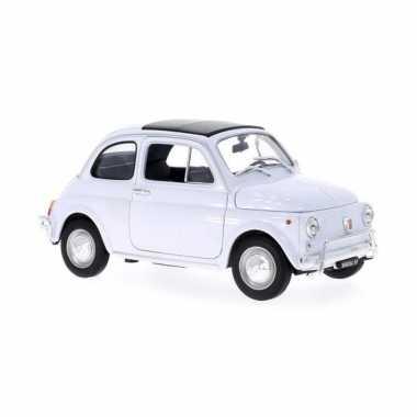 Groothandel speelgoedauto fiat 500 1957 wit 1:18/16 x 7 x 7 cm kopen