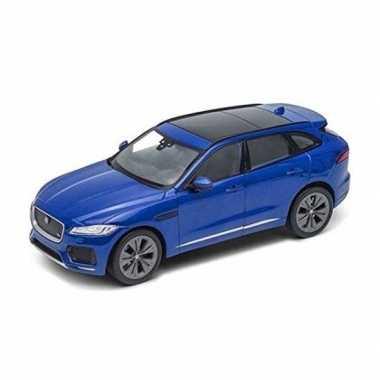 Groothandel speelgoedauto jaguar f-pace blauw 1:34 kopen