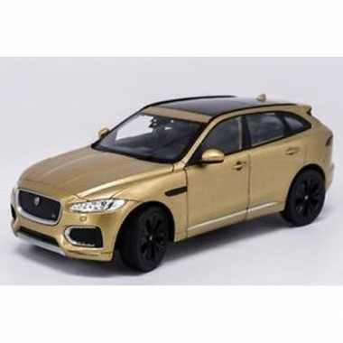 Groothandel speelgoedauto jaguar f-pace goudkleurig 1:34 kopen