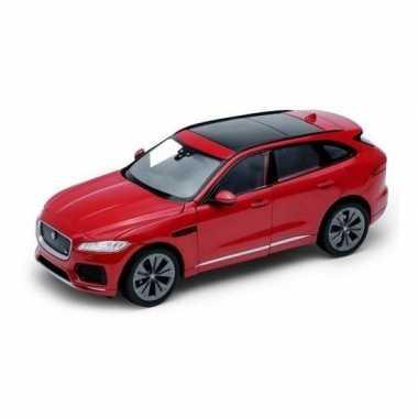 Groothandel speelgoedauto jaguar f-pace rood 1:34 kopen