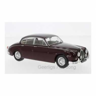 Groothandel speelgoedauto jaguar mk ii 1960 donkerrood 1:24/19 x 7 x 7 cm kopen