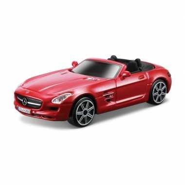 Groothandel speelgoedauto mercedes-benz sls amg rood 1:43/11 x 4 x 3 cm kopen