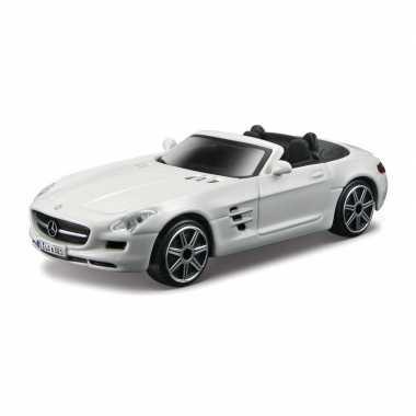Groothandel speelgoedauto mercedes-benz sls amg wit 1:43/11 x 4 x 3 cm kopen