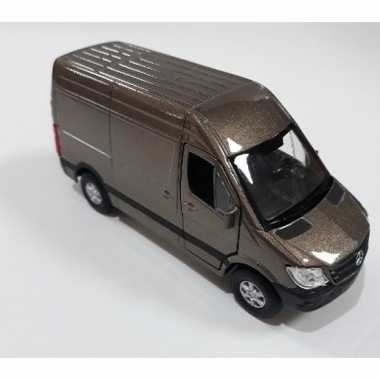 Groothandel speelgoedauto mercedes benz sprinter 1:36 taupe kopen