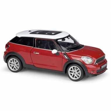 Groothandel speelgoedauto mini cooper s paceman rood 1:24/17 x 7 x 6 cm kopen