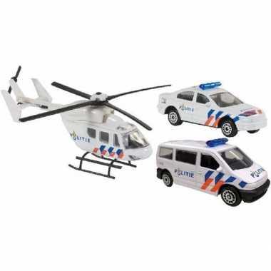 Groothandel speelgoedauto politie set 3 delig