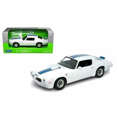 Groothandel speelgoedauto pontiac firebird trans am 1972 wit/blauw ko