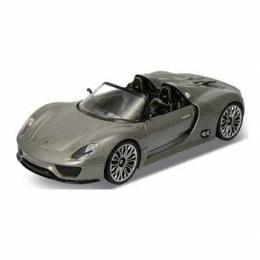 Groothandel speelgoedauto porsche 918 spyder grijs 1:36 kopen