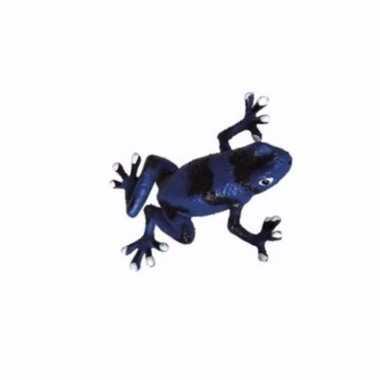 Groothandel speelgoedfiguur gifkikker auratus zwart met blauw 5 cm ko
