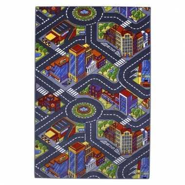 Groothandel speelkleed stad met wegen 100 x 165 cm speelgoed