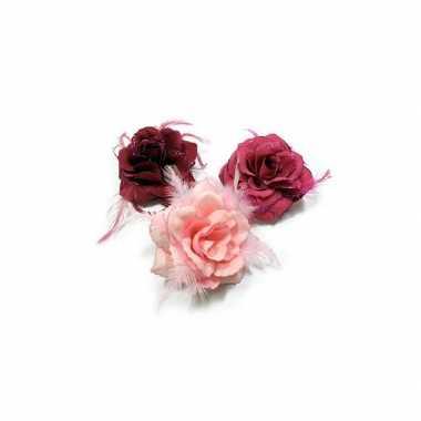 Groothandel speld met glitter roos roze tonen speelgoed