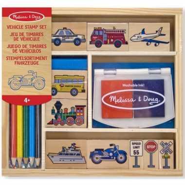Groothandel stempelset met voertuigen 15-delig speelgoed kopen