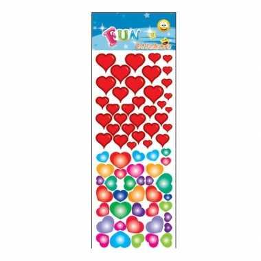 Groothandel stickervel gekleurde hartjes speelgoed kopen