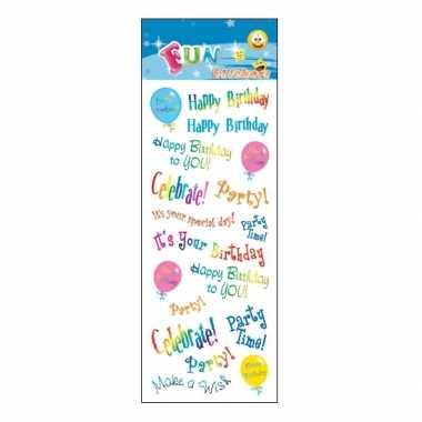 Groothandel stickervel happy birthday speelgoed kopen