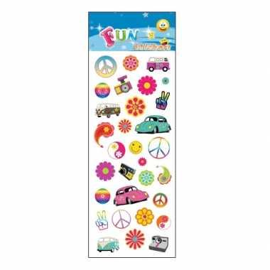 Groothandel stickervel hippie flower power thema speelgoed kopen
