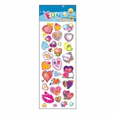 Groothandel stickervel/plakplaatjes hartjes speelgoed kopen