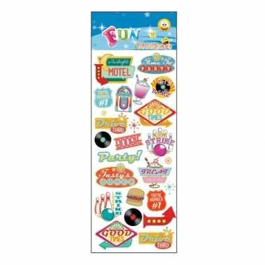 Groothandel stickervel retro fifties thema party speelgoed kopen