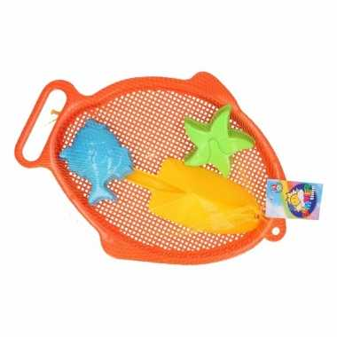Groothandel strand speelsetje oranje 4 delig speelgoed kopen