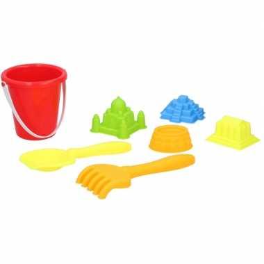 Groothandel strand zandbak speelset emmer met vormpjes en schepjes speelgoed 10140032