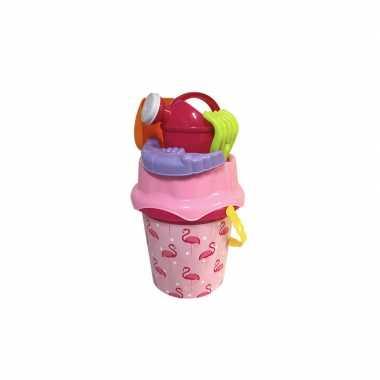 Groothandel strandspeelgoed flamingo vogel emmer met accessoires voor jongens/meisjes/kinderen kopen