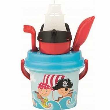 Groothandel strandspeelgoed piraat emmer met accessoires voor jongens